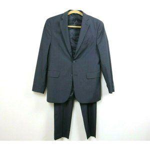 Nautica Mens Suit 2 Piece Plaid Wool Blend Pockets